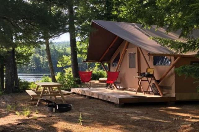 Une tente Huttopia dans les Montagnes blanches du... (PHOTO TIRÉE DU SITE WEB D'HUTTOPIA)