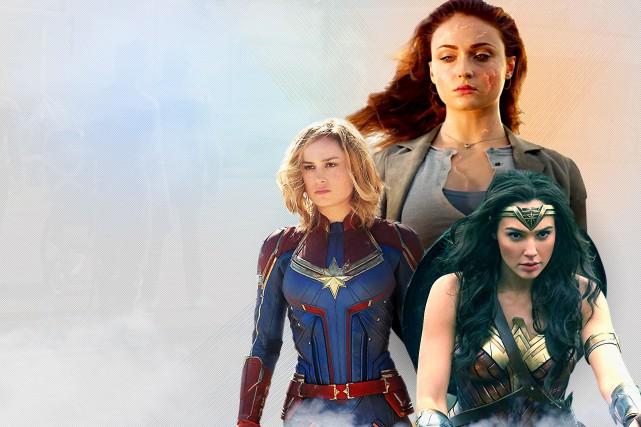 Trois superhéroïnes : Captain Marvel, Phoenix et Wonder... (PHOTOMONTAGE LA PRESSE)