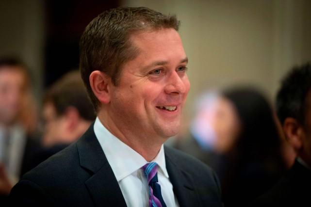 Le chef du Parti conservateur, Andrew Scheer... (PHOTO SÉBASTIEN ST-JEAN, AGENCE FRANCE-PRESSE)