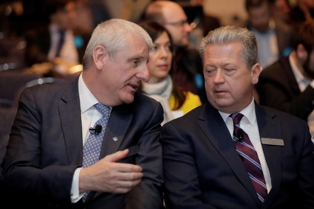 Ian L.Edwards (gauche) se joindra au conseil d'administration... (PHOTO DARIO AYALA, REUTERS)