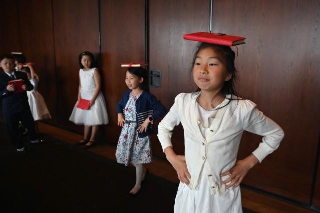 Au dernier étage d'un hôtel cinq étoiles de... (PHOTO HECTOR RETAMAL, AFP)