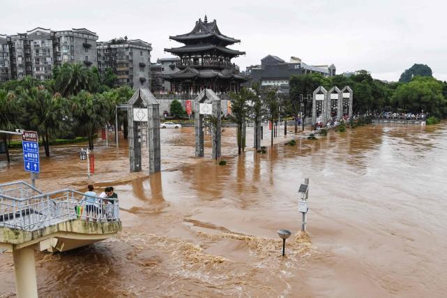 Selon la télévision publique CCTV, 22 provinces du... (PHOTO STR, AFP)