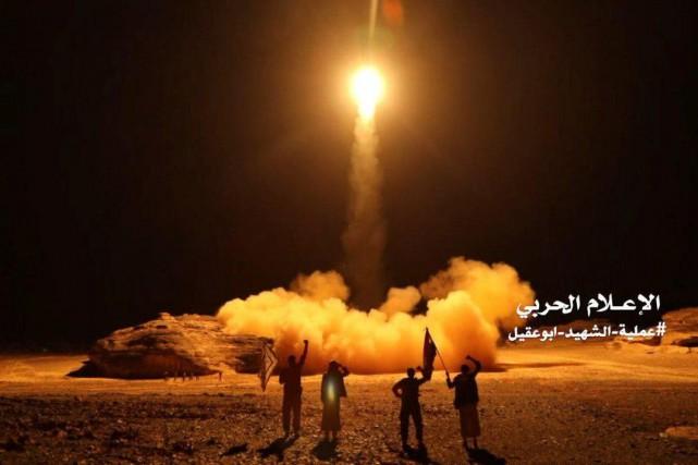 Les Houthis avaient annoncé plus tôt avoir attaqué... (PHOTO HANDOUT, REUTERS)