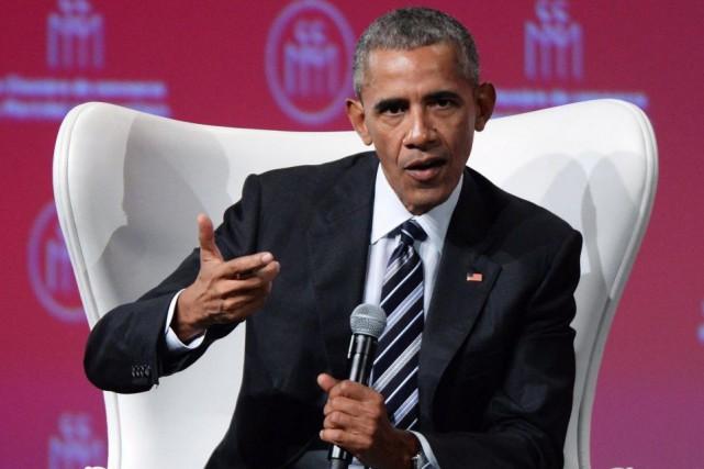 Le 44eprésident des États-Unis, BarackObama, était de passage... (PHOTOPAULCHIASSON, ARCHIVES LA PRESSE CANADIENNE)