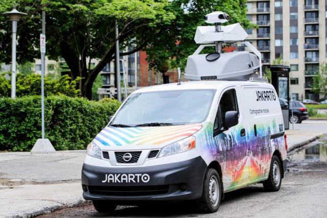 La «Jakarto Mobile», qui cartographie les villes québécoises,... (PHOTO ÉDOUARDPLANTE-FRÉCHETTE, LA PRESSE)
