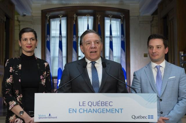Le premier ministre François Legault a fait le... (PHOTO JACQUES BOISSINOT, LA PRESSE CANADIENNE)