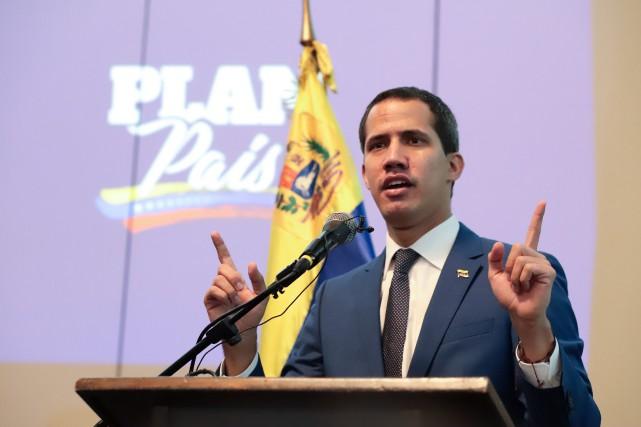 L'opposant vénézuélien Juan Guaidó... (PHOTO AGENCE FRANCE-PRESSE/SERVICE DE LA PHOTOGRAPHIE DE JUAN GUAIDÓ)