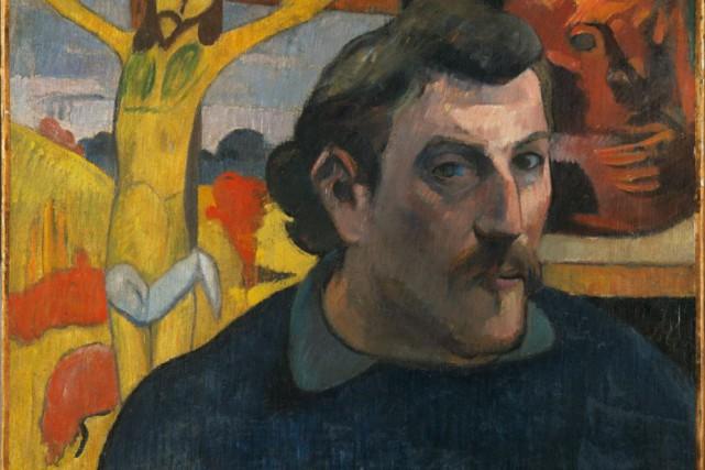 Autoportrait au Christ jaune, 1890-1891, de Paul Gauguin... (PHOTO FOURNIE PAR LE MBAC)
