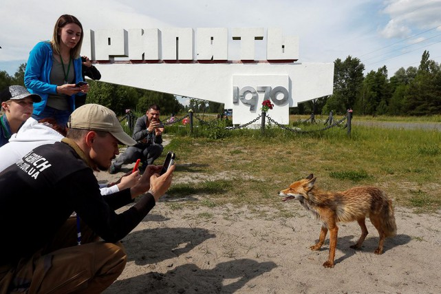 Le tourisme n'est pas nouveau à Tchernobyl, mais... (PHOTO VALENTYN OGIRENKO, REUTERS)
