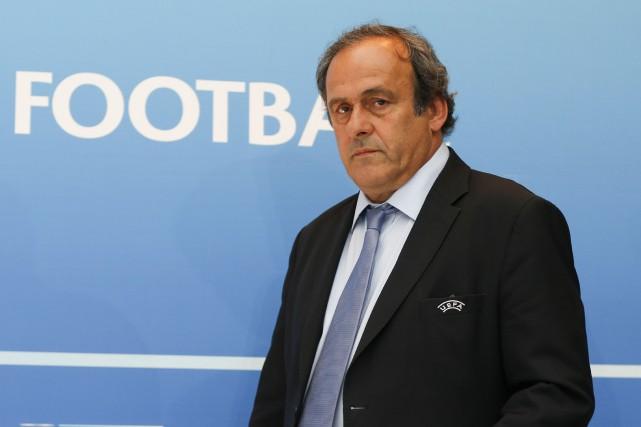 L'ancien patron de l'UEFA Michel Platini... (PHOTO VALERY HACHE, ARCHIVES AGENCE FRANCE-PRESSE)