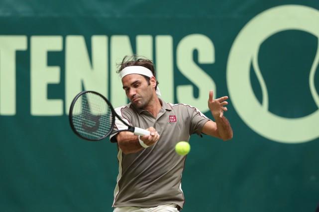 Roger Federer... (PHOTO FRISO GENTSCH, AGENCE FRANCE-PRESSE)