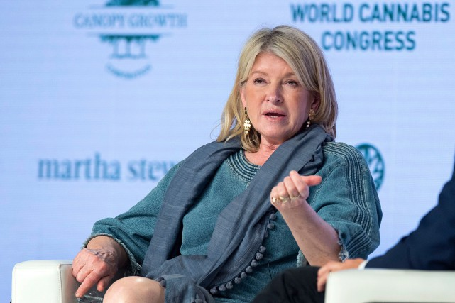 Martha Stewart a pris la parole mardi devant... (PHOTO ANDREW VAUGHAN, LA PRESSE CANADIENNE)