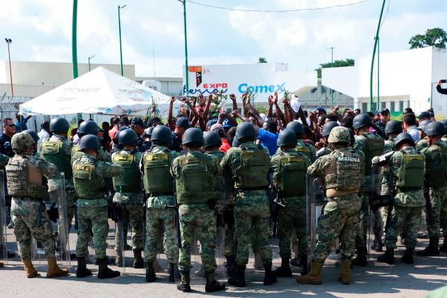 Émeute de migrants dans le sud du Mexique