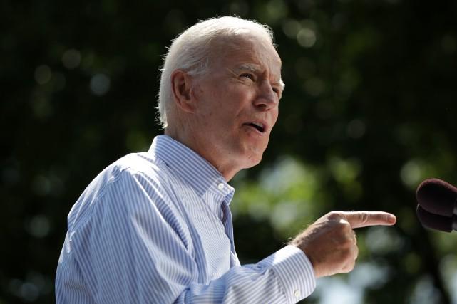L'ex-vice président américain et candidat à la présidentielle... (PHOTO DOMINICK REUTER, AGENCE FRANCE-PRESSE)