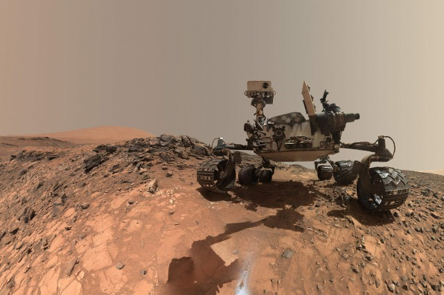 Le tout-terrain Curiosity.... (PHOTO ARCHIVES NASA)