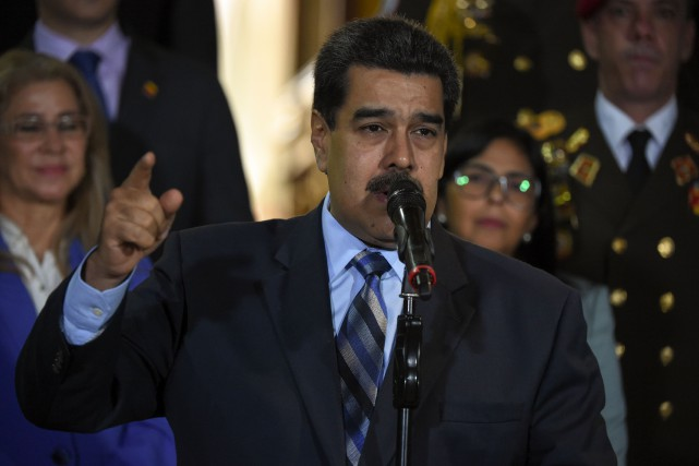 Nicolas Maduro... (PHOTO YURI CORTEZ, AFP)