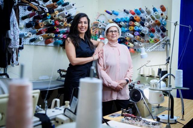 Selma Benterki et Latifa Boukendakdji sont deux véritables... (PHOTO ALAIN ROBERGE, LA PRESSE)
