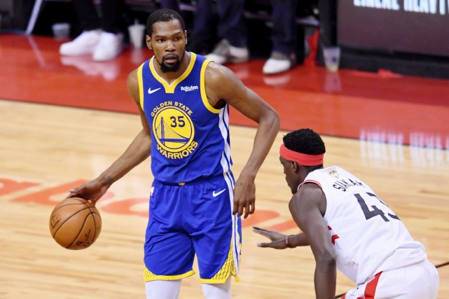 Kevin Durant, ailier vedette des Golden State Warriors,... (PHOTO NICK TURCHIARO, ARCHIVES USA TODAY SPORTS)