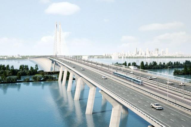 Maquette du futur Réseau express métropolitain sur le... (ILLUSTRATION FOURNIE PARCDPQ INFRA)