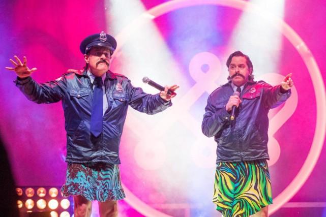 Bruno Landry et YvesP. Pelletier de RBO... (PHOTO OLIVIER JEAN, LA PRESSE)