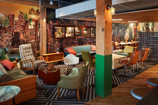 Un espace lounge du Drake Commissary, à Toronto,... (PHOTO FOURNIE PAR DRAKE HOTEL PROPERTIES)