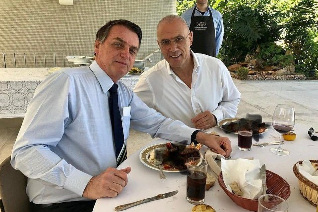 La photo en question, publiée sur le compte... (PHOTO AMBASSADE D'ISRAËL AU BRÉSIL)