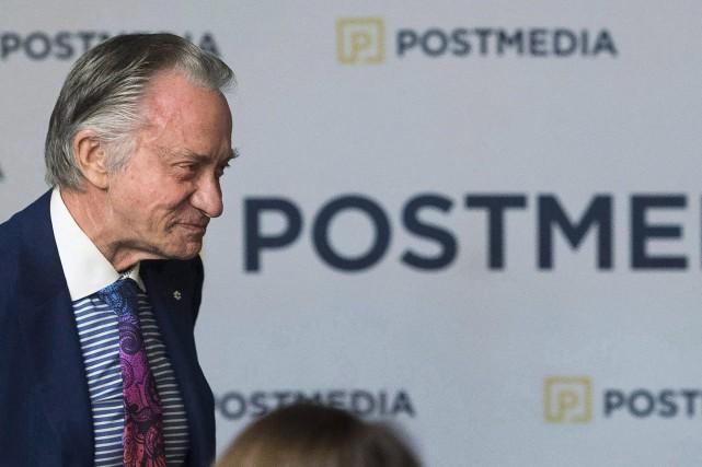 Le PDG de Postmedia, Paul Godfrey... (PHOTO NATHAN DENETTE, ARCHIVES LA PRESSE CANADIENNE)