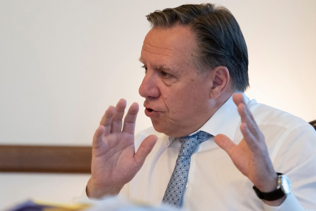 Le premier ministre François Legault... (PHOTO JACQUES BOISSINOT, ARCHIVES LA PRESSE)