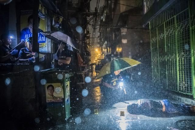 les meurtres nocturnes commis par les policiers philippins... (PHOTO NYT)