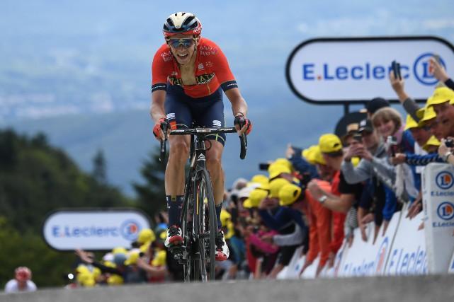 Le Belge Dylan Teuns a remporté la sixième... (PHOTO ANNE-CHRISTINE POUJOULAT, AGENCE FRANCE-PRESSE)