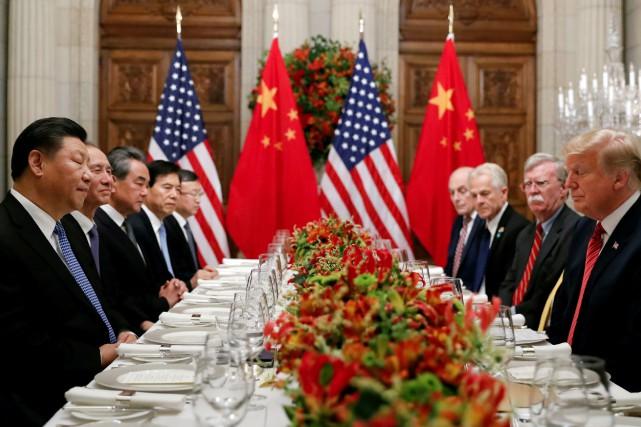Les discussions entre Américains et Chinois pour mettre... (PHOTO REUTERS)