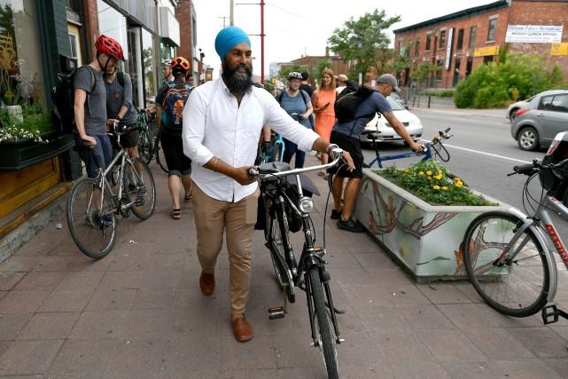 Le chef néo-démocrate Jagmeet Singh... (PHOTO JUSTIN TANG, LA PRESSE CANADIENNE)