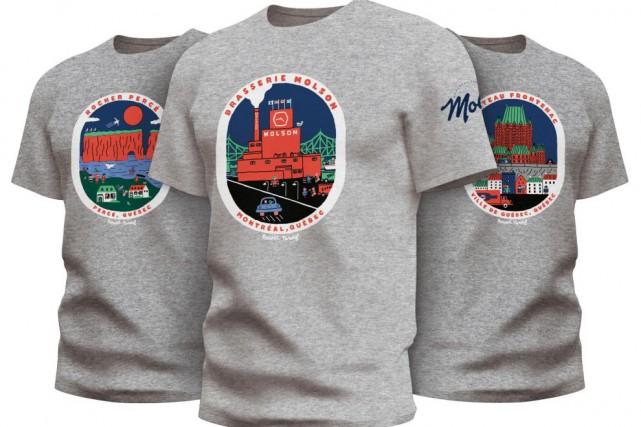 Paperole collabore avec Molson Export pour trois t-shirts... (PHOTO FOURNIE PAR MOLSON)