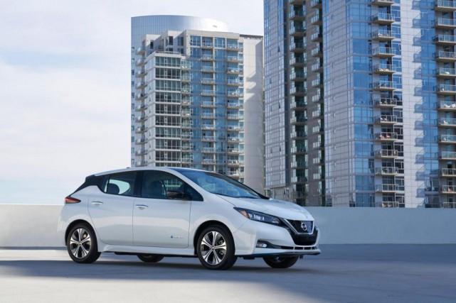 Une Nissan Leaf 2019... (PHOTO FOURNIE PARNISSAN)