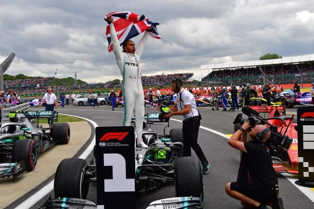 GP de Grande-Bretagne: Hamilton établit un record avec sa sixièmevictoire