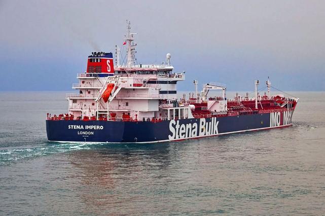 Le pétrolier Stena Impero... (PHOTO AP)