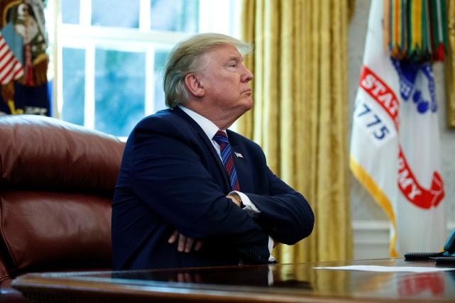 Les propos de DonaldTrump ont provoqué samedi une... (PHOTO CAROLYN KASTER, ASSOCIATED PRESS)