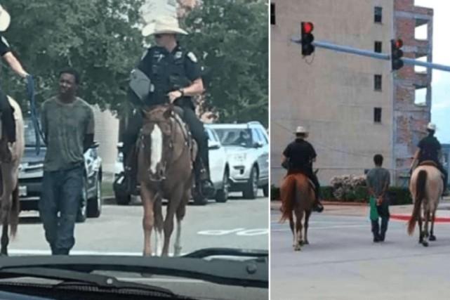 Le chef de la police d'une ville du Texas s'est excusé face à l'indignation... (PHOTOS TIRÉES DE TWITTER)