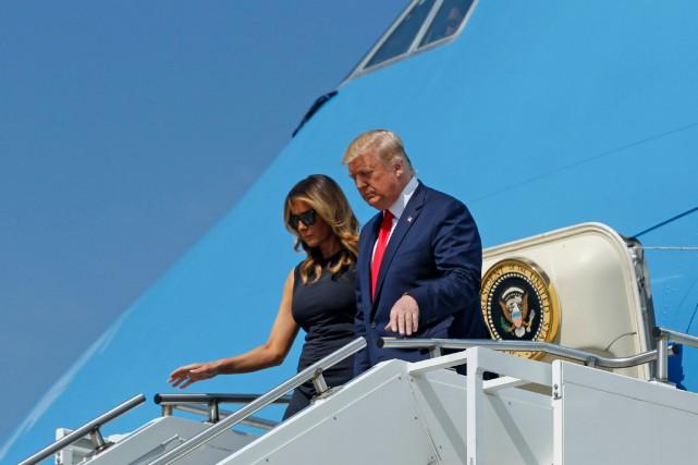 Donald Trump rencontre des blessés à Dayton
