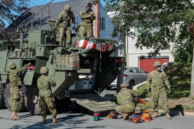 L'armée arrive en renfort à Halifax après Dorian