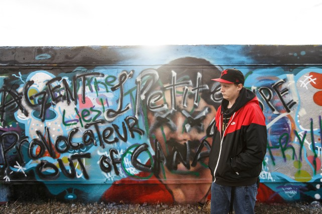 Une murale Greta Thunberg vandalisée à Edmonton