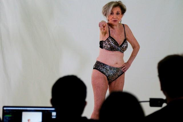 Lingerie sexy et mannequinat pour Helena Schargel, 80ans