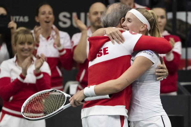 Fed Cup: le Canada tire de l'arrière 2-0 face à la Suisse