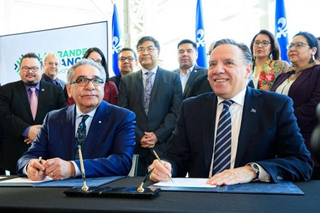 Québec etles Cris scellent une entente de4,6milliards