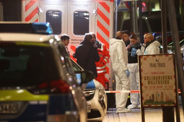 Francfort: deux fusillades font au moins huit morts