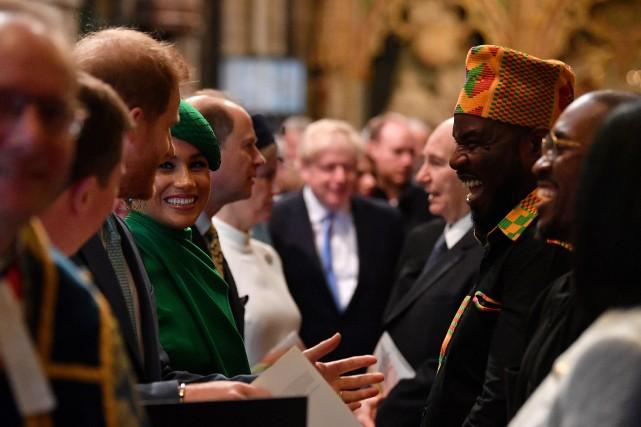 Meghan et Harry aux côtés de la reine pour leur dernier devoir royal