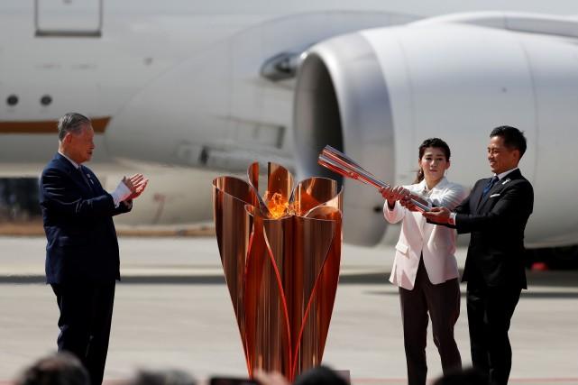 La flamme olympique arrive au Japon