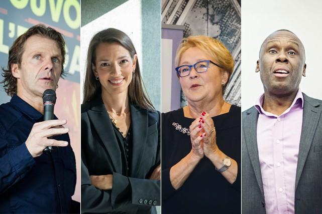 Pierre Lavoie, Isabèle Chevalier, Pauline Marois et Bruny...