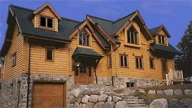 Cette maison est faite de billes usinées de...