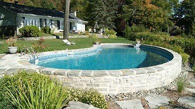 une piscine autoportante et r sistante gilles angers piscines et spas. Black Bedroom Furniture Sets. Home Design Ideas